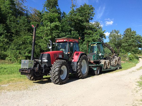 Schweres Gerät für Forstarbeiten